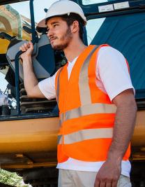 Safety Vest With 4 Reflectors EN ISO 20471